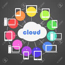 Colour Scheme Abstract Color Scheme Cloud Technology Royalty Free Cliparts