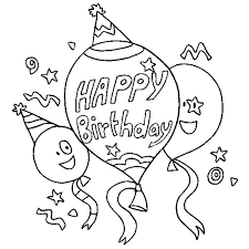 happy birthday balloons coloring pages best place to color