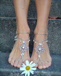 wedding barefoot sandals reserved silver wedding barefoot sandals chain by gpyoga