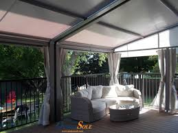 Louvered Roof Pergola by Ombrasole Awnings Retractable Awnings With Canvas Or A Louvered