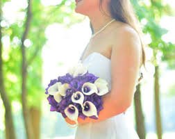 Purple Wedding Bouquets Purple And Orange Bridal Bouquet Rose And Gerbera Daisy