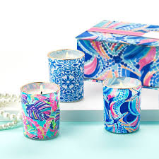 lilly pulitzer votive candle set in ocean jewels u2013 the lucky knot