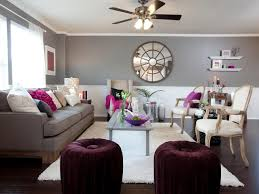 Purple Livingroom by Living Room With Grey Wall Colors And Purple Accents Colors That