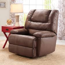 Brown Leather Accent Chair Set Of 2 Recliners Walmart Com