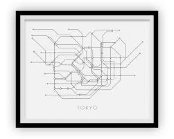 Tokyo Subway Map by Tokyo Subway Map Print Tokyo Metro Map Poster U2013 Ilikemaps