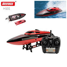 skytech h101 rechargeable lcd 30km h 2 4ghz rc racing toy boat for