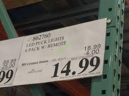 Costco Led Light Fixture Remote Control Led Lights Costco And Capstone Led Puck 6 Pack With