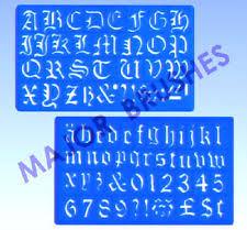stencil lettering ebay