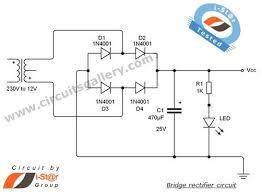 full wave bridge rectifier circuit with working explanation