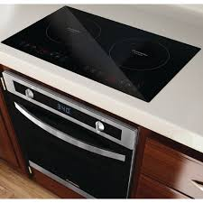 2 Burner Cooktop Electric Appliances Amazing Dark Brown Contempprary Varnished Wooden
