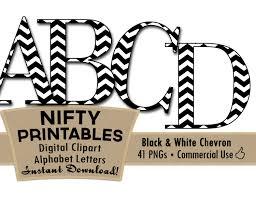 black white chevron clip art alphabet letters black u0026 white