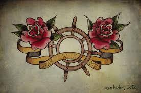 roses and sailor chest design tattooshunt com