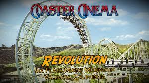 six flags magic mountain coaster cinema revolution at six flags magic mountain youtube