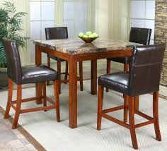 counter height table w faux marble top and 4 stools by cramco