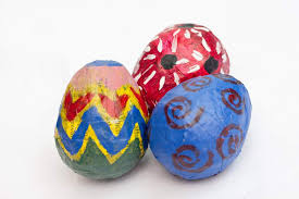 paper mache easter eggs how to make paper mache easter eggs day by day in our world
