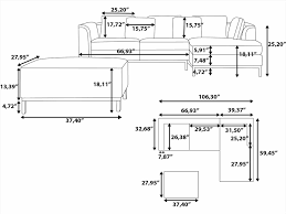 how to read dimensions couch leather vail group flexsteel sectional couch dimensions