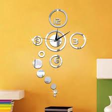 diy large watch wall clock decor modern design stickers mirror wall clock stickers