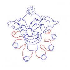 how to draw scary clowns step by step creatures monsters free