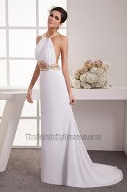 informal wedding dresses cut out halter beaded informal wedding dresses