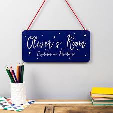 personalised children u0027s room metal sign by delightful living