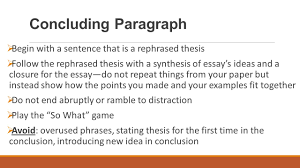 sample of synthesis essay compare contrast essay structure ppt video online download 12 concluding