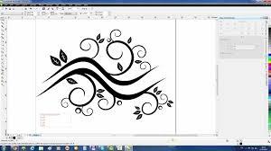tutorial membuat undangan dengan corel draw 12 coreldraw tutorial create abstract floral waves youtube