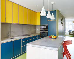 blue kitchen cabinets and yellow walls 65 blue kitchen cabinet ideas for your decorating