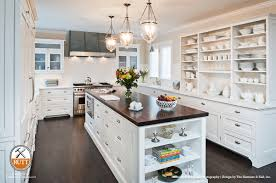 open shelving white cabinets dark wood w 80th st pinterest