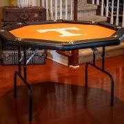 octagon poker table with georgia tech yellow jackets felt gold