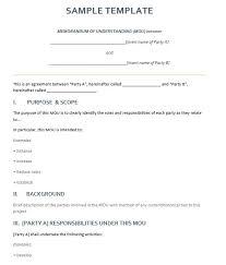 sample memorandum of agreement example memorandum agreement