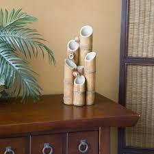 table top water fall livingroom living room water fountain stunning sheba bamboo