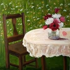 Chair In Garden Acrylic