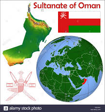 Map Of Oman Oman Flag Map Stock Photos U0026 Oman Flag Map Stock Images Alamy