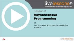 node js quick tutorial 3 5 take a quick look at synchronous programming in node js