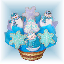 cookie baskets sd 134 winter cookie bouquet buy now christmas