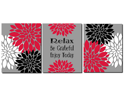 Red And Gray Bathroom Sets Creative Design Red And Black Wall Art Peachy Ideas Red Gray Black