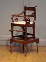 Childs Antique Chair Sold 19th Century Childs Mahogany High Chair Antique Chairs Benches