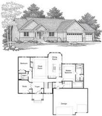 3 Bedroom Floor Plans With Garage Ranch Style House Plans 1437 Square Foot Home 1 Story 3
