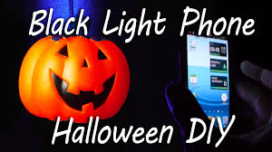 mobile phone black light halloween party trick youtube