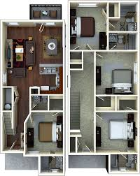 Clarence House Floor Plan Cottage Student Apartment Floorplans The Retreat