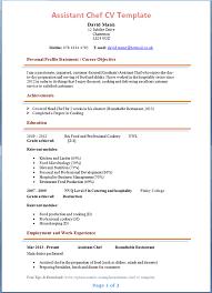 job resume free sample resume templates for chef kitchen skills