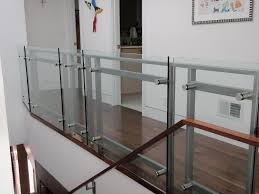 Glass Stair Handrail Balcony Glass Stair Railing Elegant And Safety Glass Stair