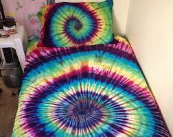 Tie Dye Bed Sets Tie Dye Bedding Etsy