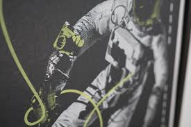 i screen print these space exploration posters in my basement by