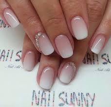 white pink ombré bridal nails nails that are cute pinterest