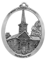 christian church of wolfeboro pewter ornament