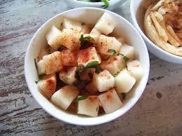 cuisiner des navets blancs recette de salade de navet blanc façon coréenne recette
