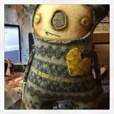 Upcycled Art - upcycled sweater art doll u2014 squeak me