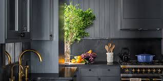 kitchen wall colors with black cabinets how black became the kitchen s it color architectural digest