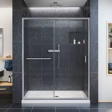 Shower Doors Dreamline Infinity Z 56 60 In Width Frameless Sliding Shower